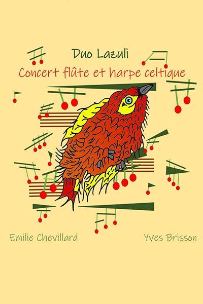 Concert F flûte et harpe celtique - 21h00